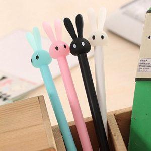 Boligrafos de tinta gel conejo kawaii