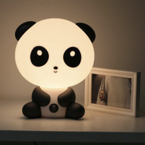 Lámpara de mesa kawaii de oso panda