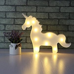 Lampara led de unicornio kawaii