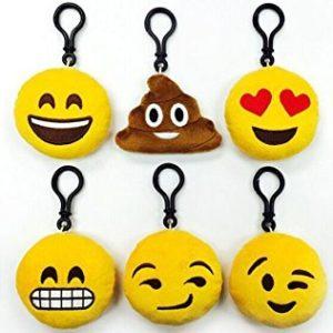 Llaveros de emoticon kawaii