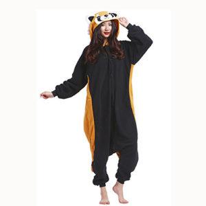 Pijama Kawaii de panda rojo cosplay