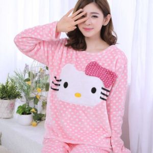 Pijama de franela hello kitty kawaii