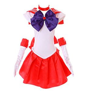 DISFRACES KAWAII SAILOR MOON COSPLAY ROJO