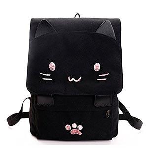 Mochilas-en-forma-de-gato-kawaii-negro