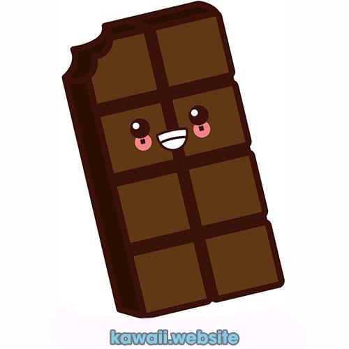 Barra-de-chocolate-kawaii