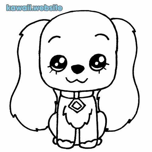 perro feliz para colorear