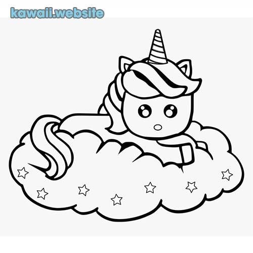Bonitos Tiernos Bonitos Dibujos De Unicornios Kawaii Para Colorear