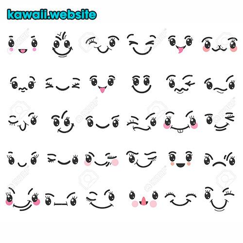 caritas-con-ojos-kawaii-para-dibujar