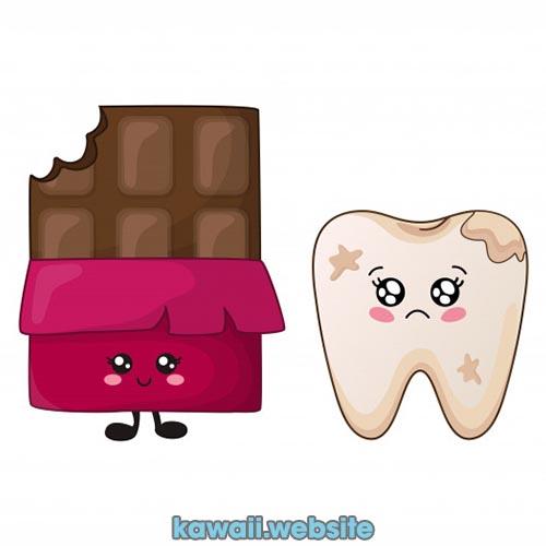 chocolatina-y-muela-kawaii