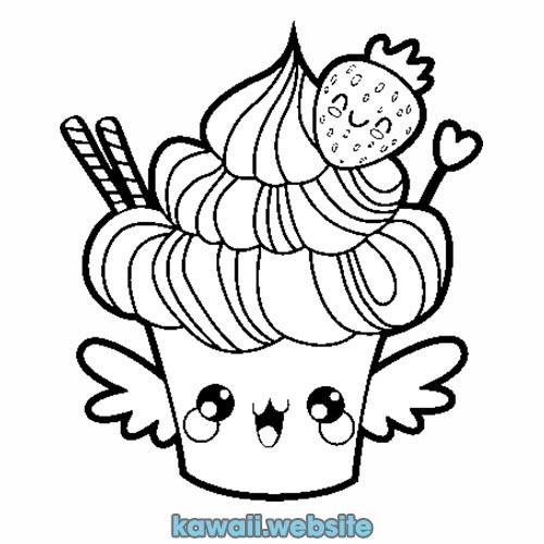 comida-de-postre-kawaii-para-colorear
