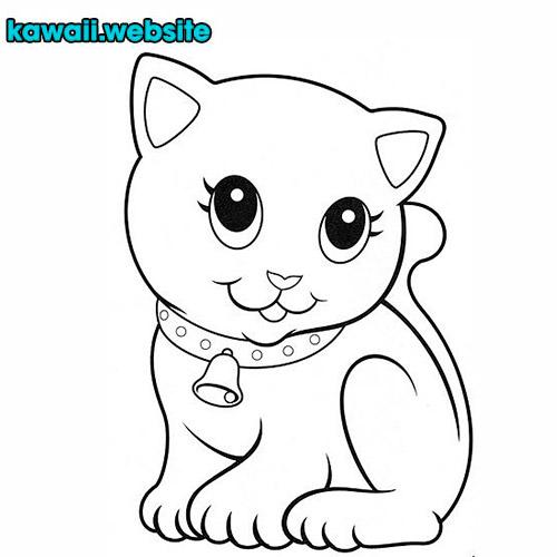 dibujo-de-gato-kawaii-para-colorear