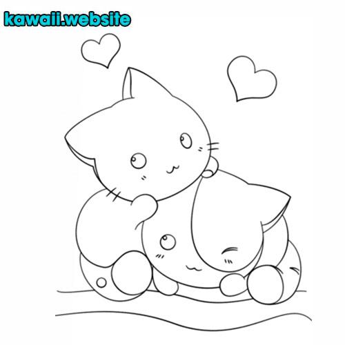 dibujo-de-gatos-enamorados