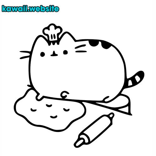 dibujo-de-gatos-kawaii-para-colorear-1