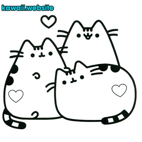 dibujo-de-gatos-kawaii-para-colorear-o-pintar