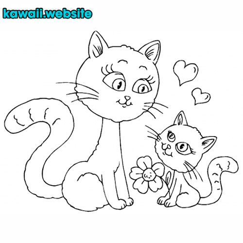 dibujo-de-gatos-para-pintar-fácil