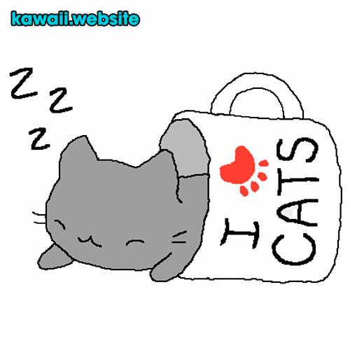 dibujo-gatos-kawaii-animado