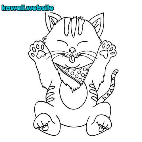 gato-para-colorear-dibujo