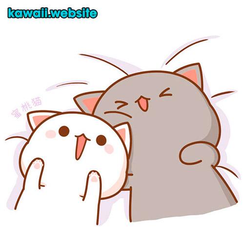 gatos-de-sonrisa-kawaii-animado