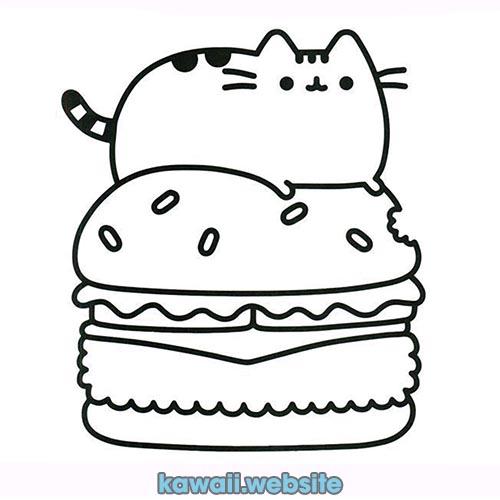 hamburguesa-comida-kawaii-para-colorear