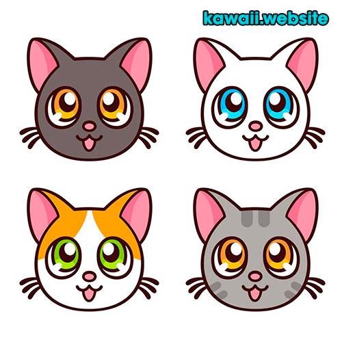 imagen-de-caritas-de-gatos-kawaii
