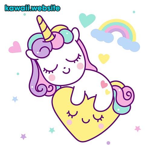 imagen-de-unicornio-durmiendo-en-corazon