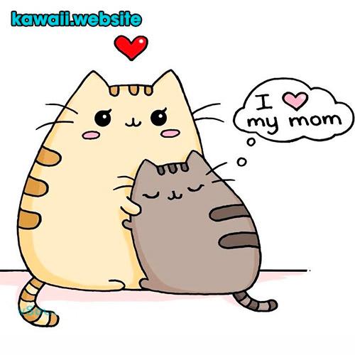 imagen-gatos-kawaii-pusheen-mamá