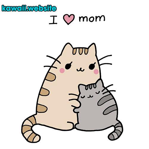 mamá-gato-pusheen