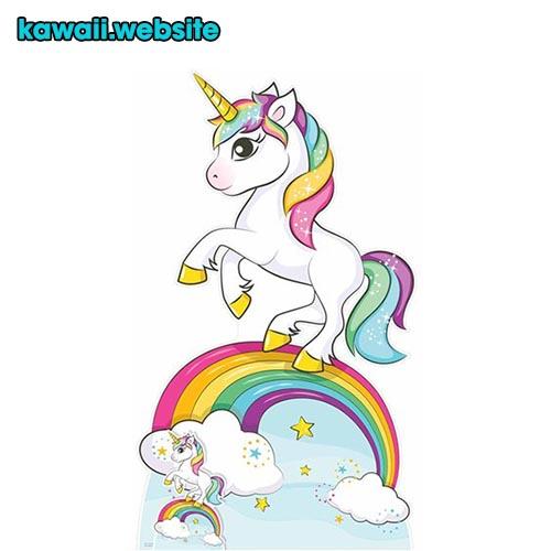 unicornio-con-arcoiris-kawaii